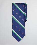 Tennis Player Stripe Tie 썸네일 이미지 1