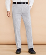 Striped Cotton Stretch Trousers 썸네일 이미지 1