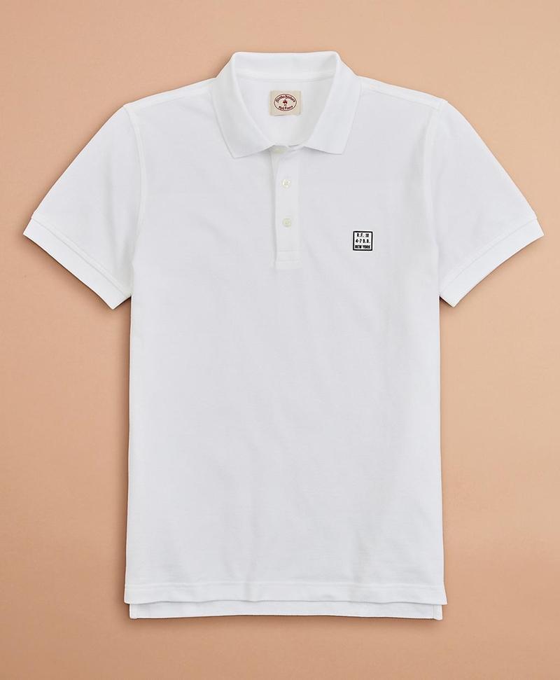 Garment-Dyed Cotton Pique Polo Shirt 썸네일 이미지 1