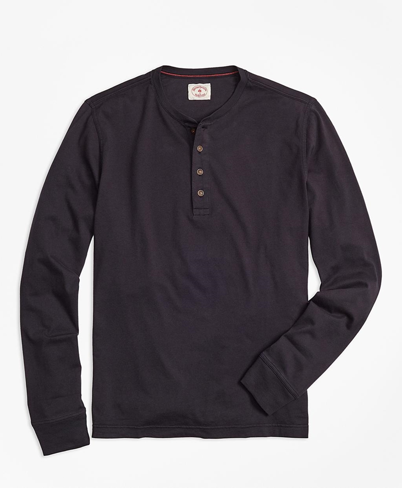 Garment-Dyed Henley 썸네일 이미지 1