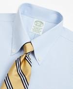 Stretch Milano Slim-Fit Dress Shirt, Non-Iron Poplin Button-Down Collar Fine Stripe 썸네일 이미지 2