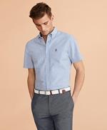 Striped Seersucker Short-Sleeve Shirt 썸네일 이미지 2