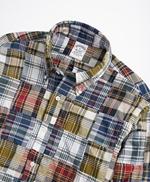 Regent Regular-Fit Sport Shirt, Patchwork Madras  썸네일 이미지 2