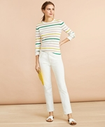 Shimmer Stripe Sweater 썸네일 이미지 2
