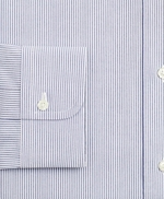 Stretch Milano Slim-Fit Dress Shirt, Non-Iron Poplin Button-Down Collar Fine Stripe 썸네일 이미지 3
