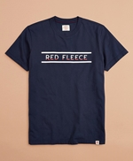 Jersey Cotton Red Fleece Graphic T-Shirt 썸네일 이미지 3