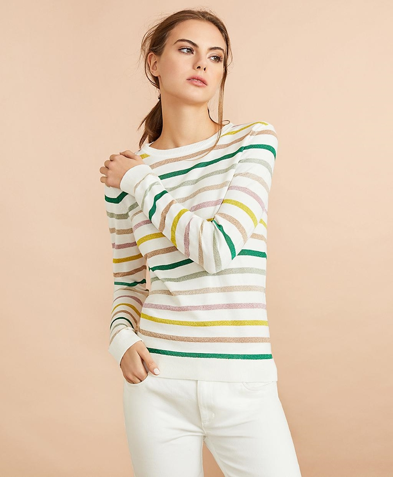 Shimmer Stripe Sweater 썸네일 이미지 3