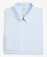 Stretch Milano Slim-Fit Dress Shirt, Non-Iron Poplin Button-Down Collar Fine Stripe 썸네일 이미지 4