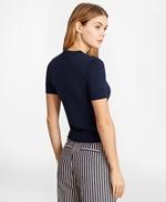 Grosgrain-Trimmed Cotton Short-Sleeve Shell 썸네일 이미지 4