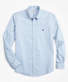 스트레치 리젠트핏 스포츠셔츠, 논 아이론 스트라이프 (블루)