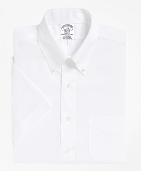리젠트 핏티드 드레스 셔츠, 논 아이론 숏 슬리브 (화이트)