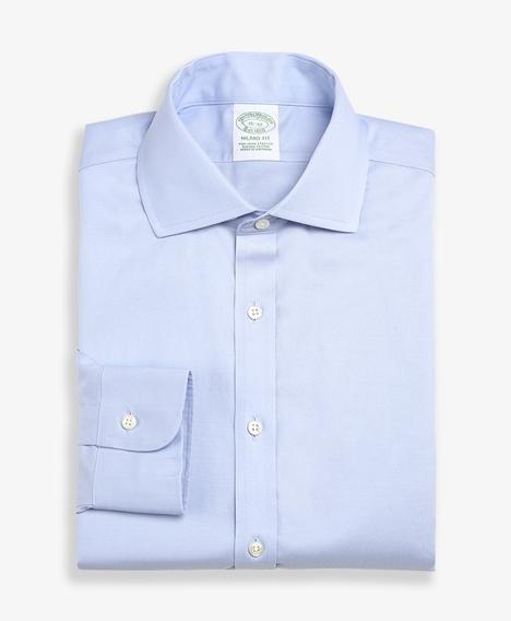 스트레치 밀라노 슬림핏 드레스 셔츠, 논 아이론 핀포인트 잉글리시 칼라 (라이트블루)