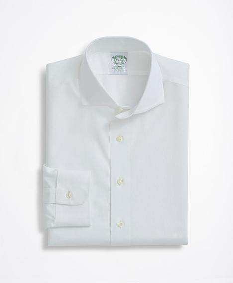스트레치 밀라노 슬림핏 드레스 셔츠, 논 아이론 핀포인트 잉글리시 칼라 (화이트)