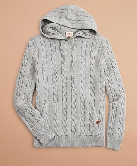 레드플리스 케이블 후디 스웨터