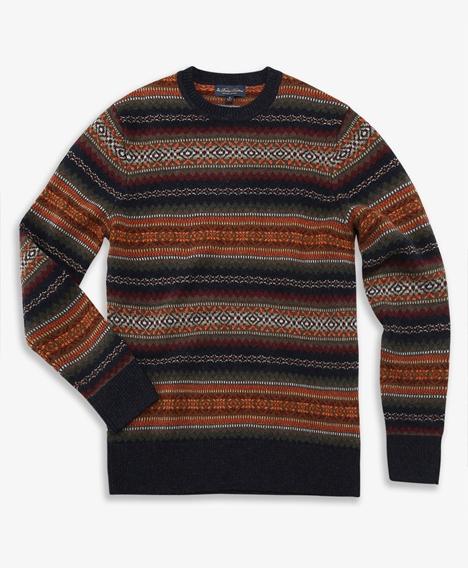 램스울 페어아일 크루넥 스웨터