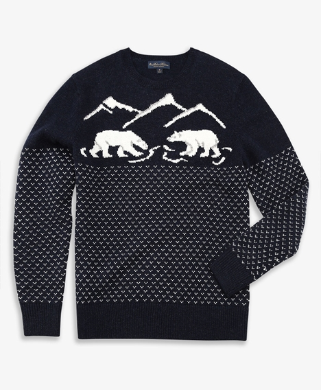 램스울 폴라 베어 크루넥 스웨터