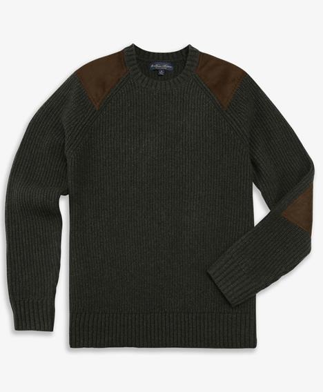 램스울 밀리터리 크루넥 스웨터
