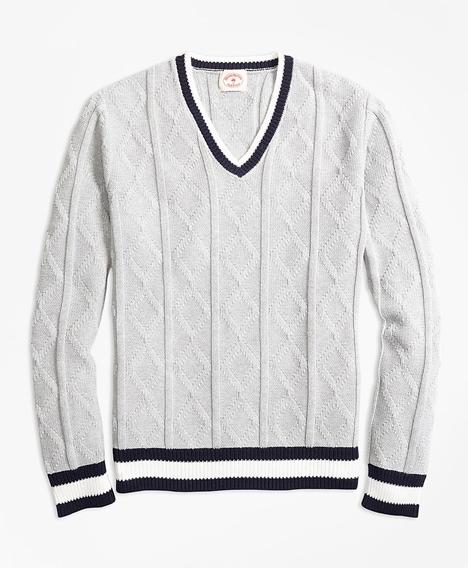 레드플리스 코튼 테니스 스웨터