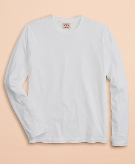 레드플리스 가먼트 다이드 코튼 저지 롱 슬리브 티셔츠 (화이트)