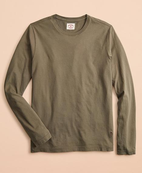 레드플리스 가먼트 다이드 코튼 저지 롱 슬리브 티셔츠 (올리브)