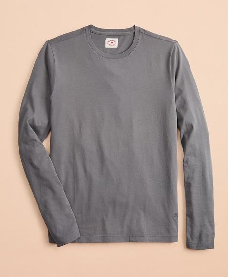 레드플리스 가먼트 다이드 코튼 저지 롱 슬리브 티셔츠 (그레이)