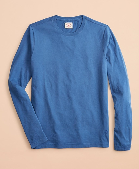 레드플리스 가먼트 다이드 코튼 저지 롱 슬리브 티셔츠 (블루)