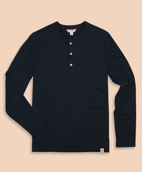 레드플리스 슬럽 코튼 헨리 티셔츠 (블루)