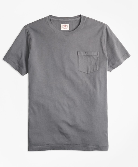 레드플리스 가먼트 다이드 티셔츠 (그레이)