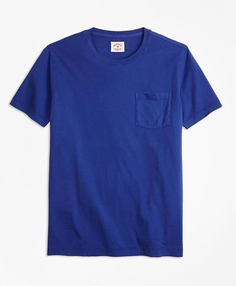 레드플리스 가먼트 다이드 티셔츠 (블루)