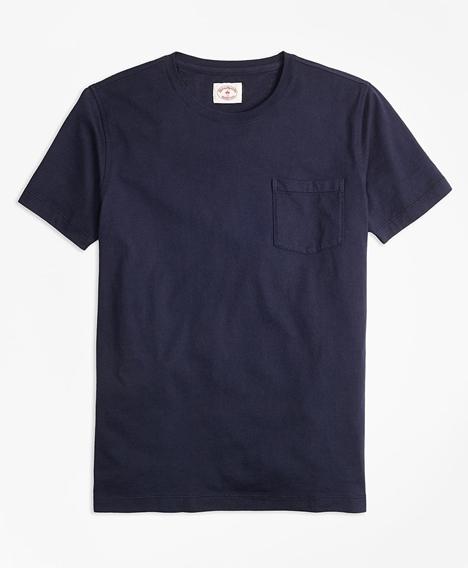 레드플리스 가먼트다이드 티셔츠 (네이비)