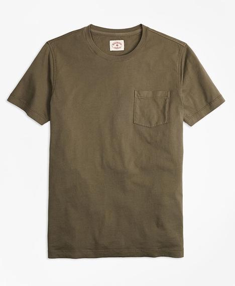 레드플리스 가먼트다이드 티셔츠 (올리브)