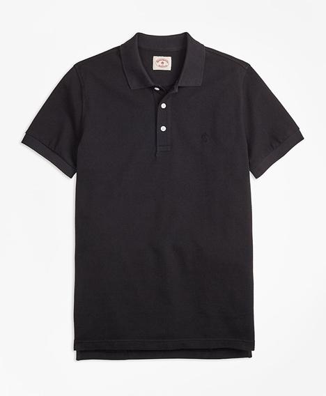 레드플리스 가먼트다이드 코튼 피케 폴로 셔츠 (블랙)