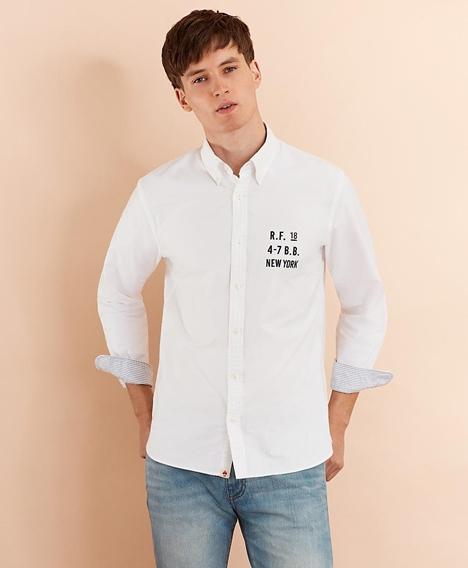 레드플리스 코튼 옥스포드 로고 스포츠 셔츠