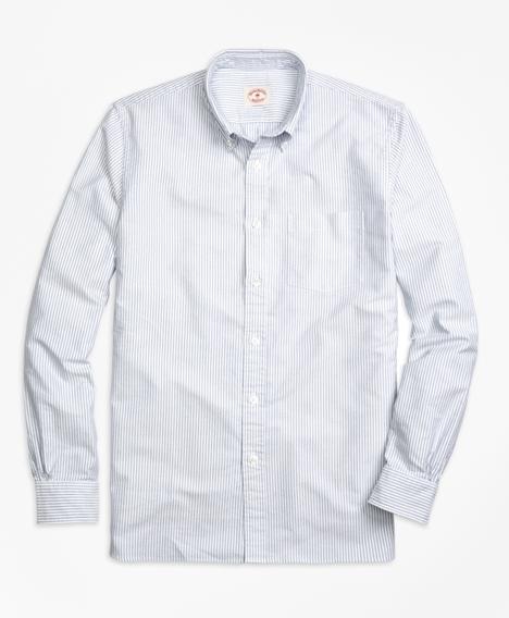 레드플리스 스트라이프 옥스포드 스포츠 셔츠 (블루)