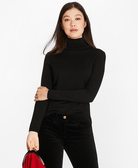 메리노 울 터틀넥 스웨터 (블랙)