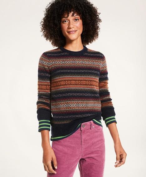 페어아일 잉글리쉬 램스울 스웨터