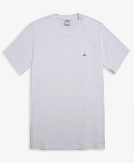 코튼 숏-슬리브 티셔츠 (화이트)