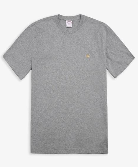코튼 숏-슬리브 티셔츠 (그레이)