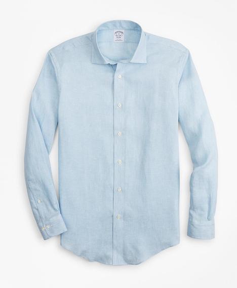 리젠트핏 리넨 솔리드 스포츠 셔츠 (블루)